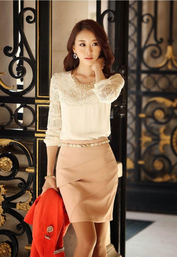 Moda coreana 26 modelos de faldas para este 2014 mundo - Fotos pinterest ...