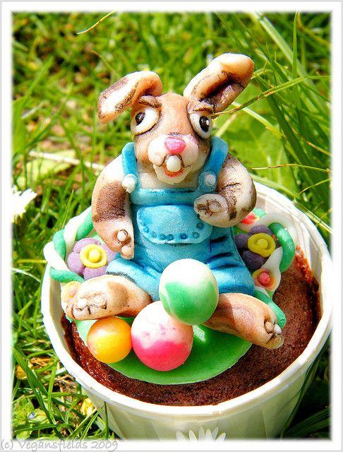 Vegansfield : Easter Bunny Cupcakes (vegan)