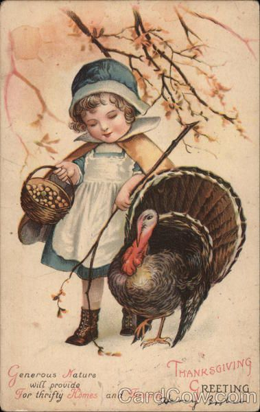 Thanksgiving Greeting Ellen Clapsaddle Children