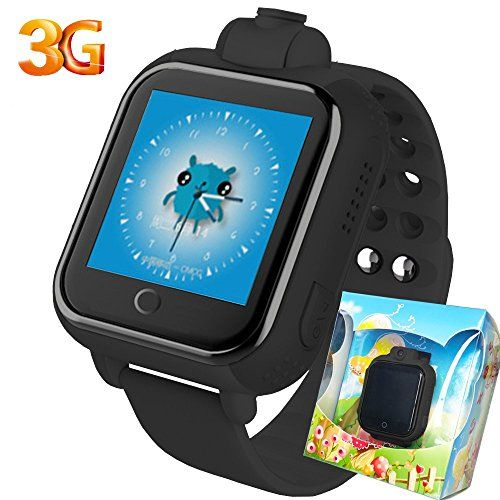 3G GPS Tracker Kids Smart Watch TURNMEON Wristwatch SIM SOS WIFI Android Wear Camera Touch Wristwatch Parent Control app for Smartphone (Black) * You can get additional details at the image link.