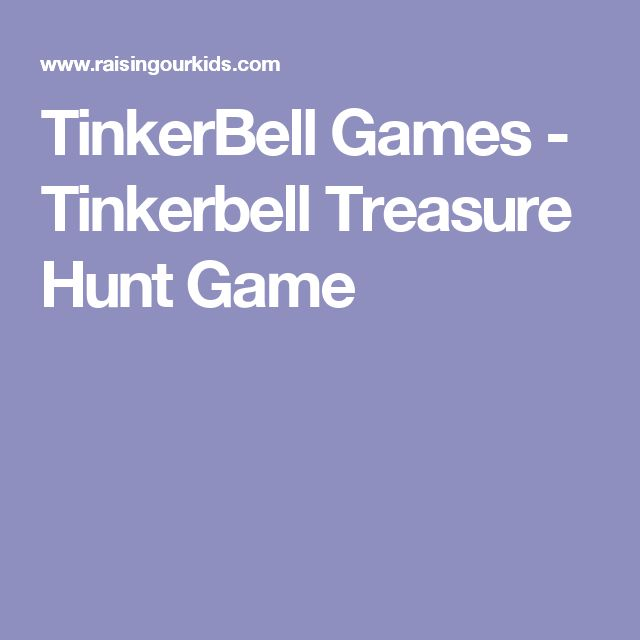 TinkerBell Games - Tinkerbell Treasure Hunt Game