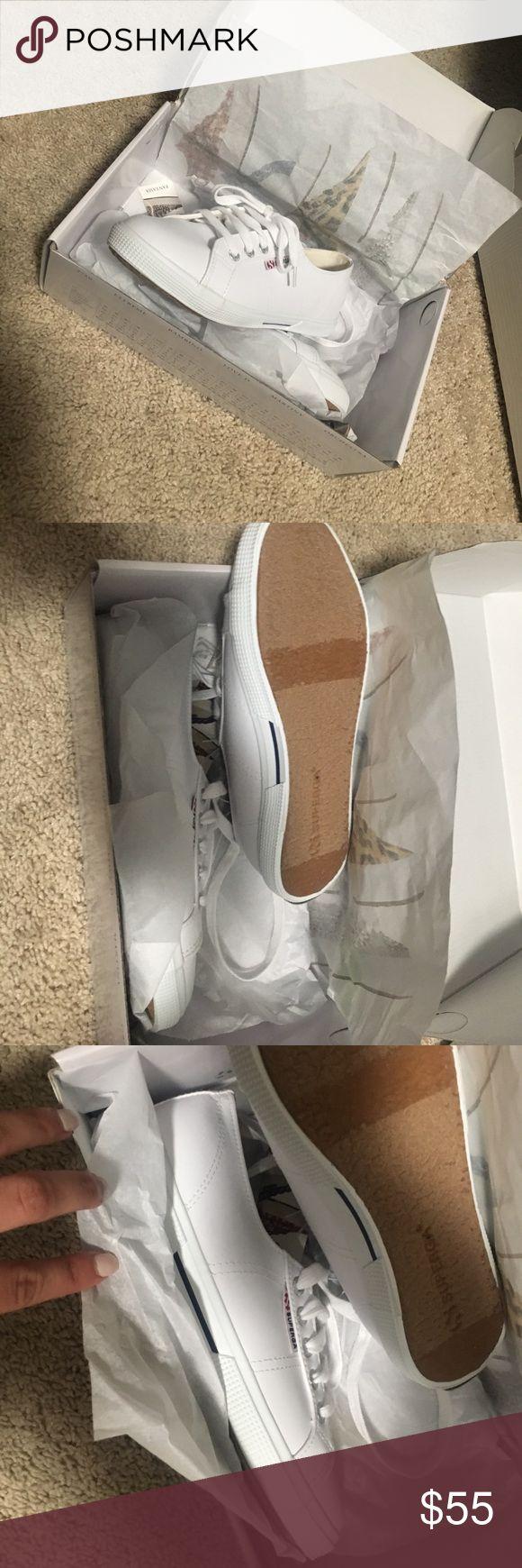 Superga white sneakers Brand new in box white superga sneakers Superga Shoes