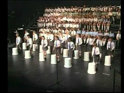 Crazy bucket drumming- this would be so fun for holiday concert with a traditional song-