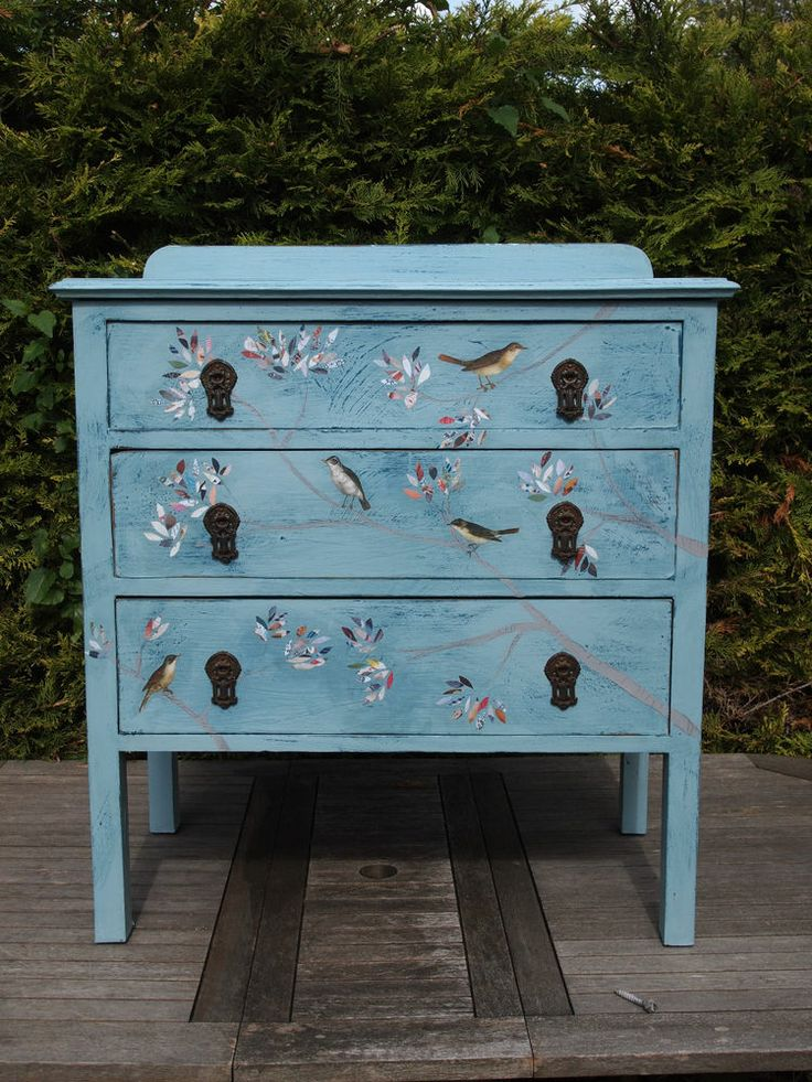 Pink Storage Bins Girls Flower Drawers Chest Dresser: 37 Best Images About Chest Of Drawers. Painted Decoupage