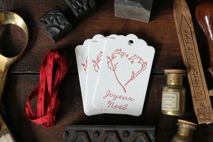 Joyeaux Noel gift tags, set of 6