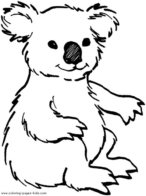 Cute Animal Colouring In : 85 best animals cut and paste print color images on pinterest