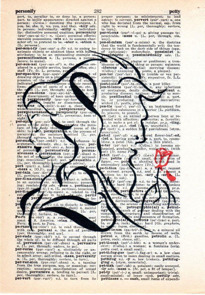 Mejores 35 imágenes de Dictionary Art en Pinterest | Diccionario de ...