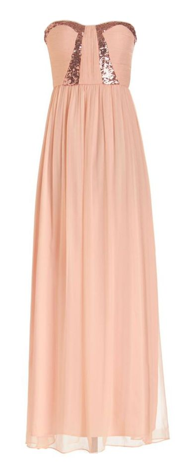 Blush sequin maxi