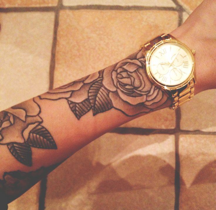 my rose half sleeve tattoo | Half sleeve tattoo, Rose tattoo sleeve, Sleeve tattoos tumblr