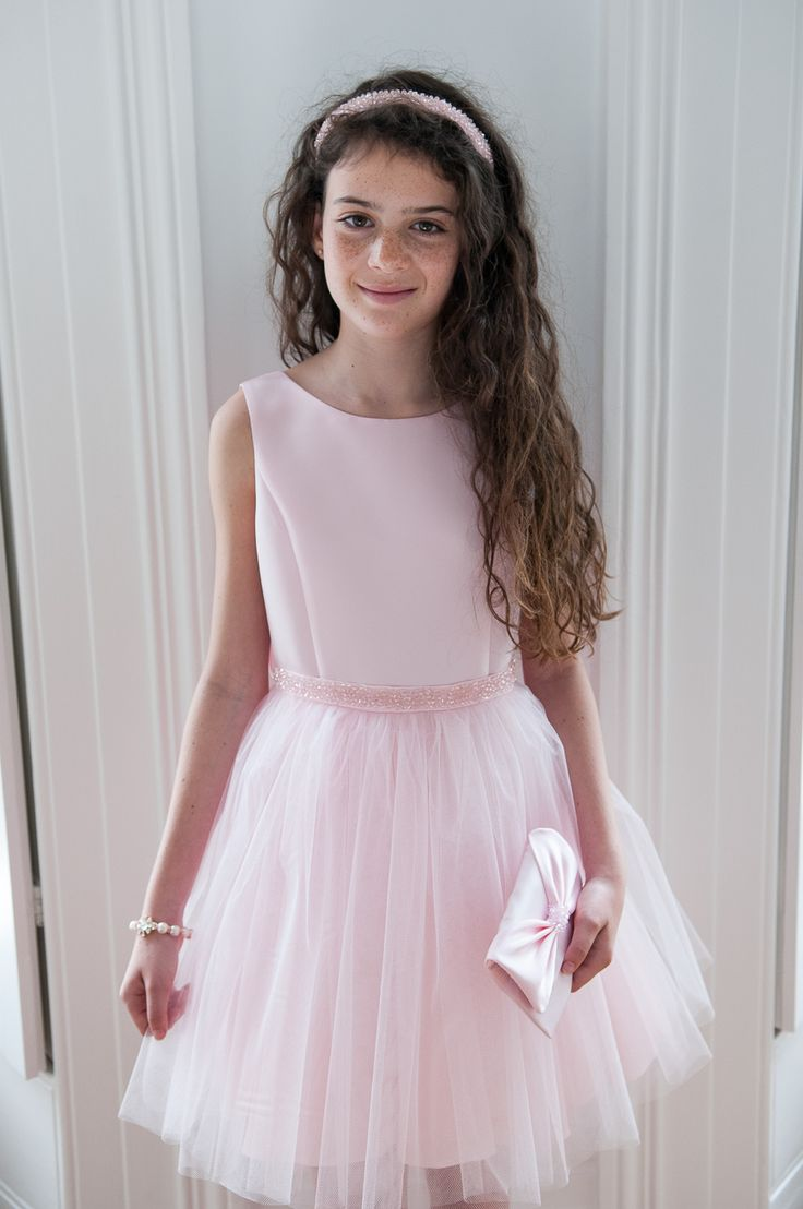 ELEGANT PASTEL PINK TULLE OCCASION DRESS