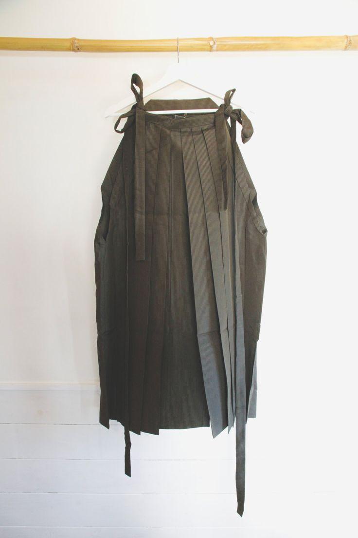 Hakama, Wedding Kimono Pants, Brown Striped Ceremonial Mens Kimono Attire,Japanese Vintage Mens Clothing,Samurai Pants,Ninja Cosplay by CJSTonbo on Etsy