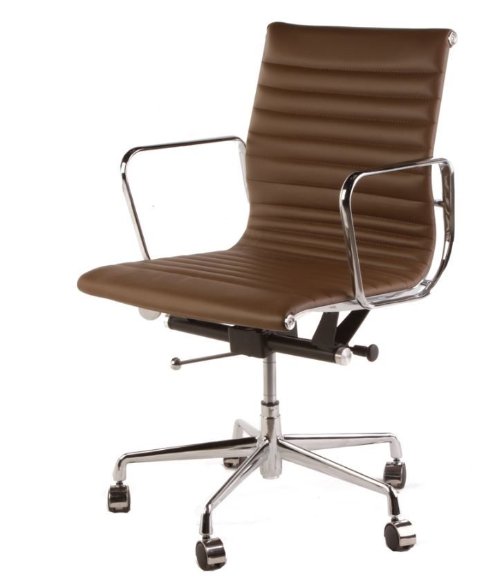 The Matt Blatt Replica Eames Group Aluminium Chair #CF 035   Standard Light  Brown