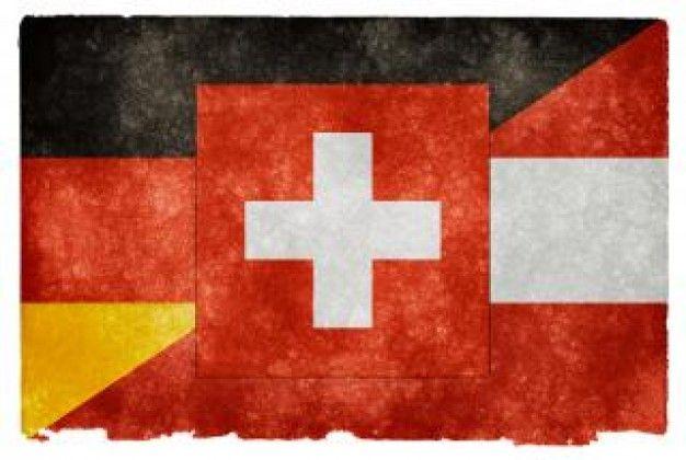 german language grunge flag