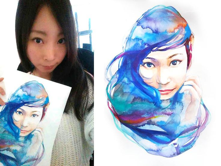 water colour  by Bee-Dwo Lin