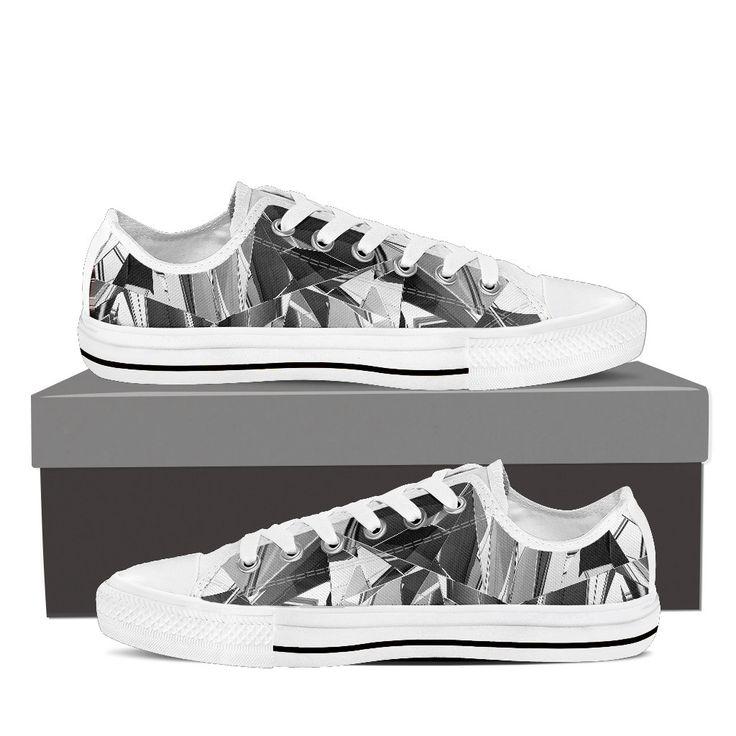 Women's Low Top Sneakers White Diamond