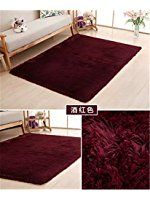 Ultra Soft 4.5cm Thicken Fur Shag Area Rugs Indoor Morden Super Soft Solid Living Room Bedroom Sitting Room Washable Area Rug and Carpets,50x80cm(Wine Red)
