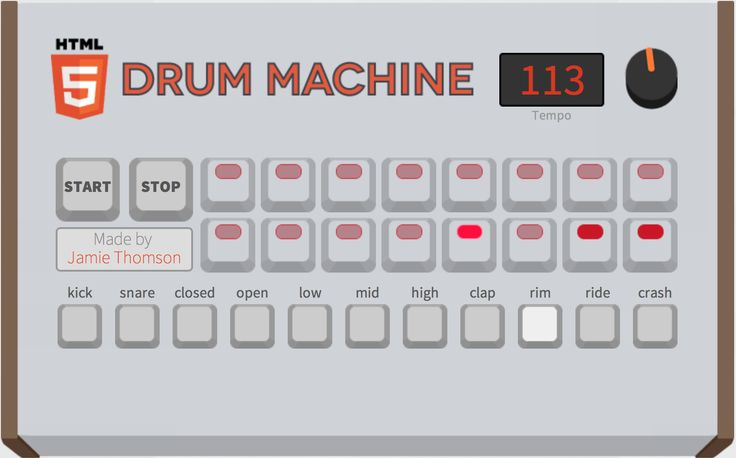 a live working drum machine that you can program in your browser built entirely in html5 http. Black Bedroom Furniture Sets. Home Design Ideas