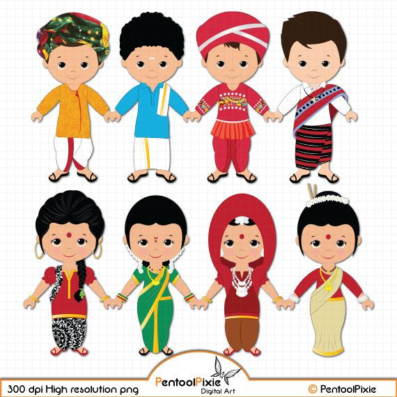 Children Of India Clipart Children Unity Clipart Ethnic