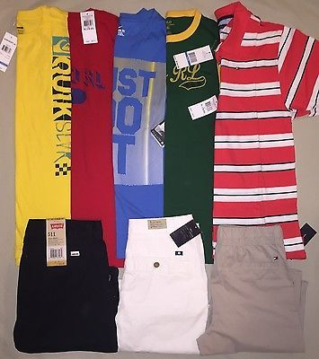 BOYS XL 18 20 LOT POLO TOMMY LEVIS LUCKY BRAND NIKE SHORTS SHIRT NWT