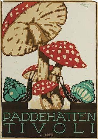 By Thor Bögelund (1890-1959), 1915, Paddehatten Tivoli, Andreasen & Lachmann, Copenhagen.