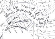 John 6:35 FREE Scripture Doodle colouring page for kids
