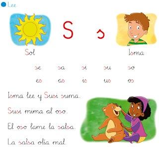 """http://primerodecarlos.blogspot.com.es/2012/10/lectura-repaso-de-la-letra-s.html    EL BLOG DE PRIMERO: LECTURA INTERACTIVA DE LA LETRA """"S"""""""