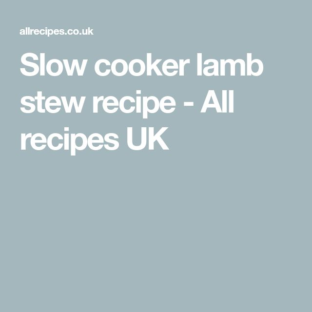 Slow cooker lamb stew recipe - All recipes UK
