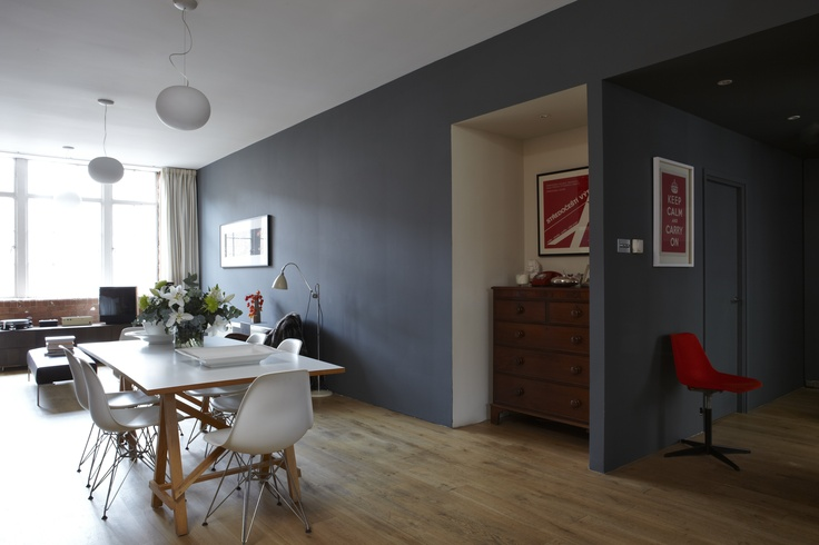Walls in Farrow & Ball's Railings, Estate Emulsion. Alcove in Lime White Estate Emulsion