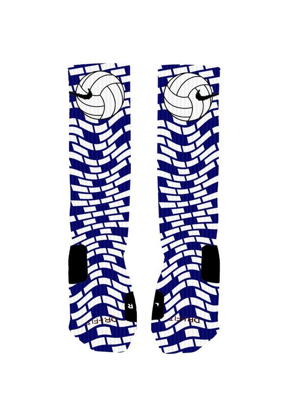 3D Volleyball Socks Custom Nike Elite Socks by NikkisNameGifts