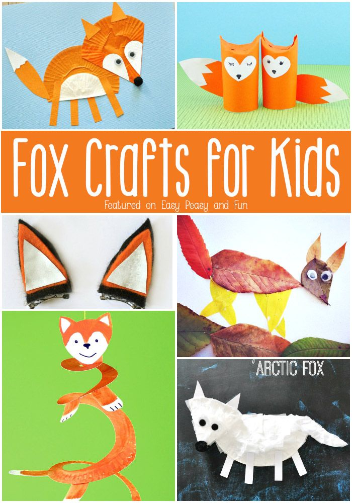 Fox Crafts for Kids - Cute crafts to make with your kids!