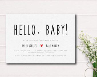 Minimalist Invites Etsy Baby Shower Boy