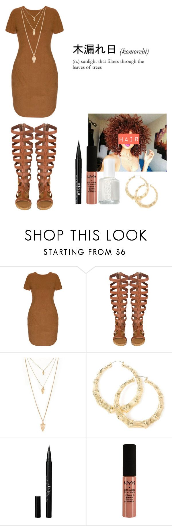 """....."" by loveme-143 ❤ liked on Polyvore featuring moda, Forever 21, Stila, NYX, Essie, women's clothing, women, female, woman y misses"