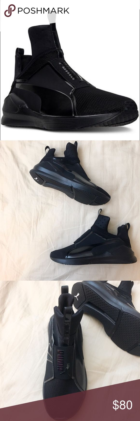 Puma Women's Fierce Core Casual Sneakers BLACK  Authentic and never worn size 6 in women - never worn - getting rid of because I have to many shoes ☺️ feel free to bid or ask questions!  Given a 5 star rating online  Puma Shoes Athletic Shoes