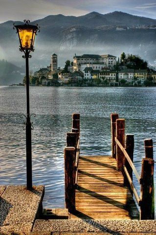 San Giulio Island on Lake Orta in Piedmont, northwestern Italy • photo: Michele Galante on 500px