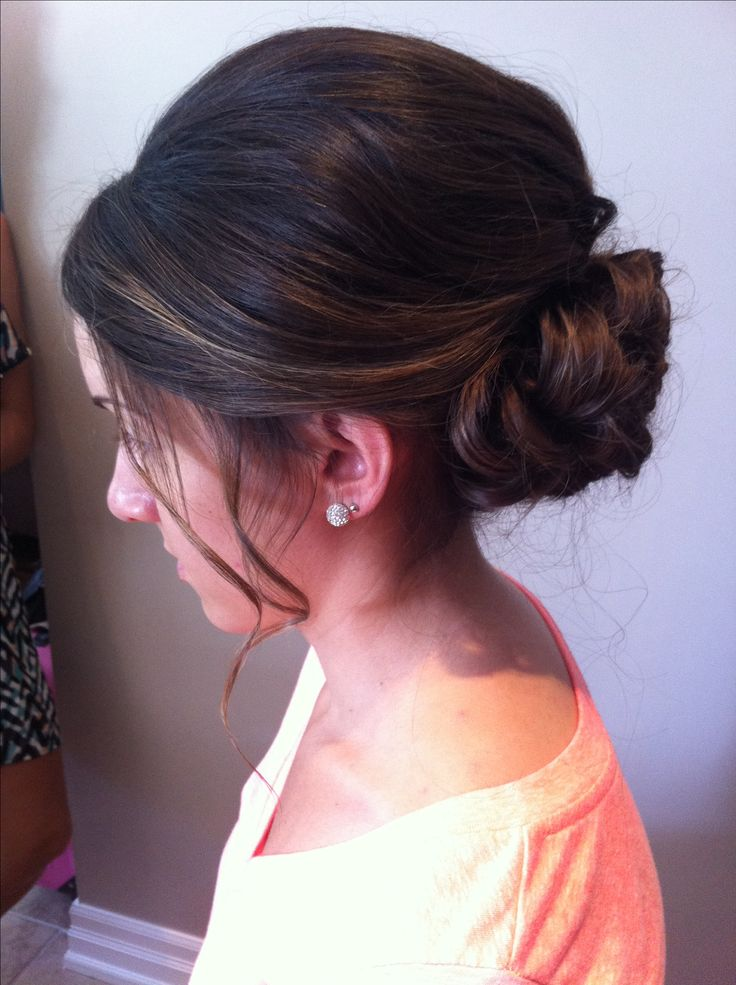 Low bun up-do. Low the height given with this wedding hair. Bridal hair.