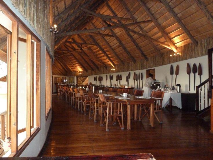 Dining area at Leroo La Tau Botswana101.com #OkanvangoDelta #CampLerooLaTau #Botswana #LifeInCamp #SafariCamp