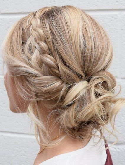 Stylish braided Messy Updo  –  #Braided #Messy #Stylish #Updo