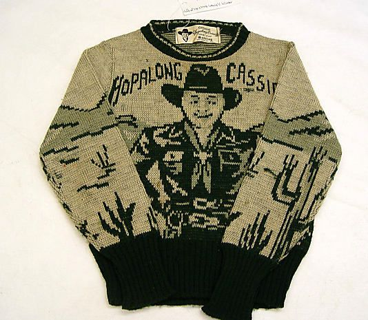 Boy's Sweater, 1930-49, American, wool knit   Graphic cartoon  