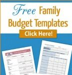 Need help budgeting? Download and fill out these free family budget templates to help you organize your family's budget.
