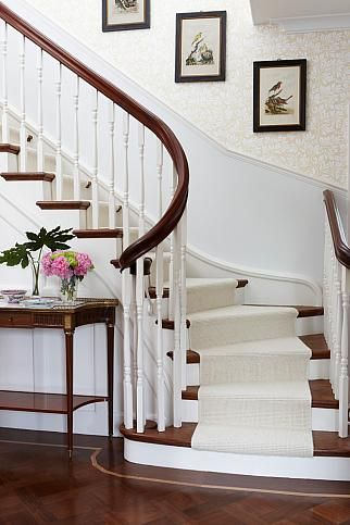 Sarah Richardson Design - London Flat (Entry/Hall) PMs - Kate Stuart and Tommy Smythe. Like the pictures up the stairs