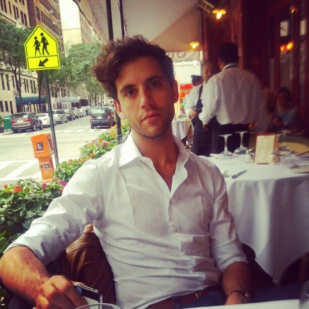 Mika at a cafe Aug 2012 (from someone's instagram)