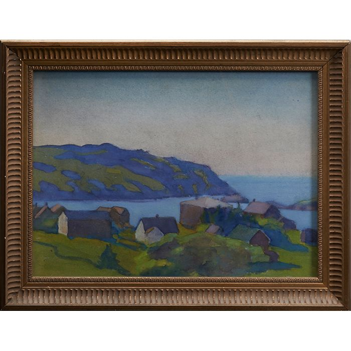 "Margaret Jordan Patterson, (American, 1867-1950), Monhegan, watercolor, unsigned, framed, estate stamp on verso, 10.5"" x 14.25"",Provenance: Estate of the Artist, James Bakker Auction, June 1991; The Collection of Robert and Elaine Dillof, Croton Falls, NY"