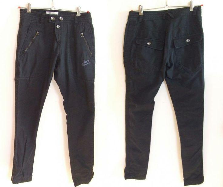 Spodnie damskie Nike sportswear czarne 100% bawełn