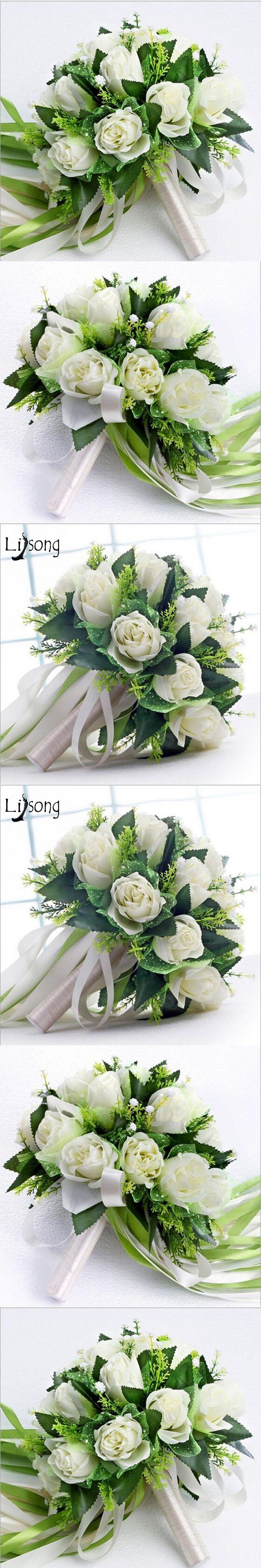 2017 Idyllic Wedding Bouquet Vinatge Buque De Boiva Modest 3D Flower With Leaf Rustic Bridal Bouquet Wedding Accessories