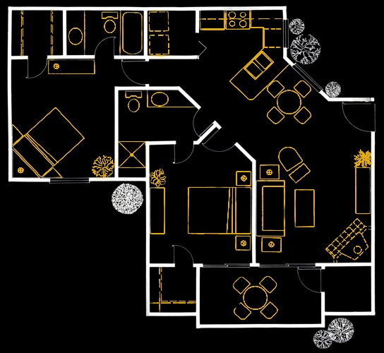 7 best apartment floorplans images on pinterest bedroom floor pebble creek at lake mary offers one two and three bedroom floor plans in traditional and townhome layouts all with large kitchens and ample storage malvernweather Image collections