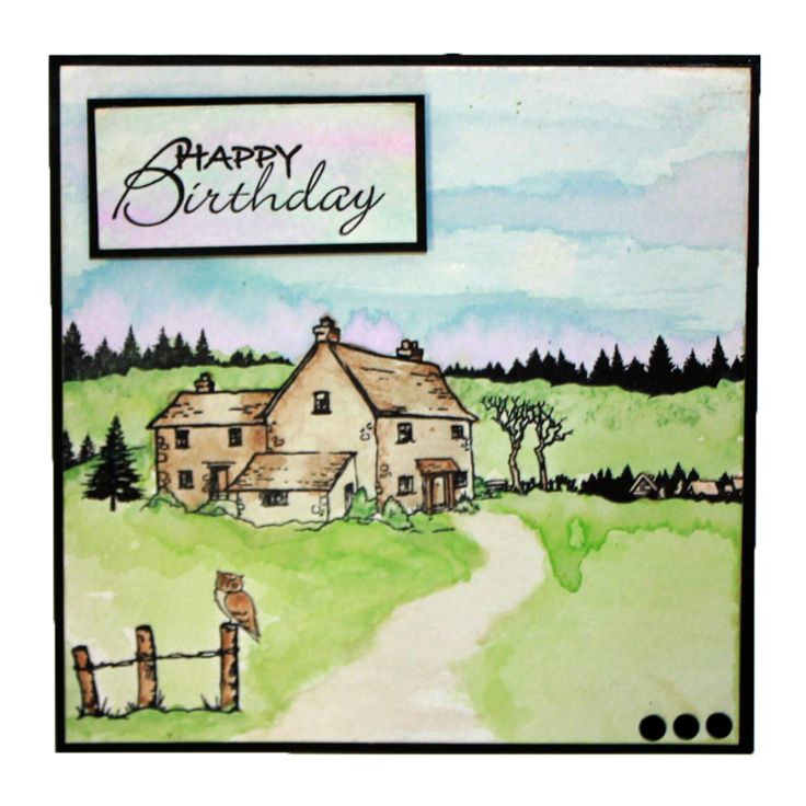 This is the gorgeous new Old Barn designed by Sharon Bennett for Hobby Art. Clear set contains 17 stamps. Overall size of set - 100mm x 260mm approx. All our clear stamps are made with photopolymer resin. This was the Monthly Special for February 2015. This Gorgeous card was made by Laura Williams