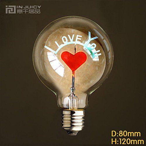 Injuicy Lighting G80 E27 Vintage Retro économie D'énergie Incandescent Ampoules Lampe Décorative Edison Ampoules de Noël Holiday…