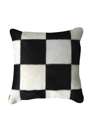 Natural Brand Torino Patchwork Pillow, Black/White