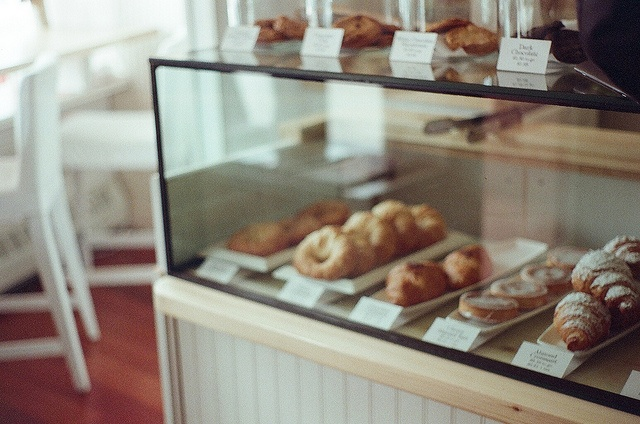 Leonhard's has pastries and European coffee, but owner Axel also serves a variety of hot breakfasts. Not only is the food good, the atmosphere is charming. http://www.leonhards.ca/