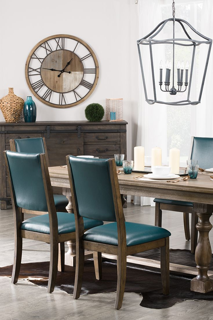 This Modern Dining Room Features Beautiful Wood Tones And Vibrant